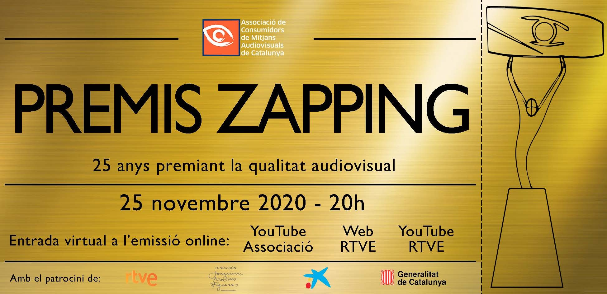Flyer gala virtual Premis Zapping