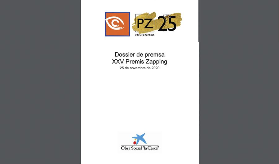 Accedeix al Dossier de Premsa de la 25 Edició dels Premis Zapping